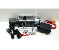 Лебедка электрическая 12V Electric Winch 12000lbs / 5443 кг с кевларовым тросом 10mm, алюминиевый клюз