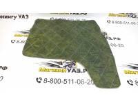 Обивка передней двери 452 охотник (зеленая цифра) прострочка ромбом