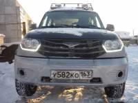 Силовой передний бампер (рестайлинговый) на УАЗ Патриот